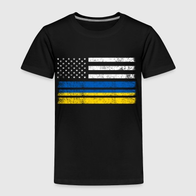 Ukrainian American Flag - USA Ukraine Shirt - Toddler Premium T-Shirt