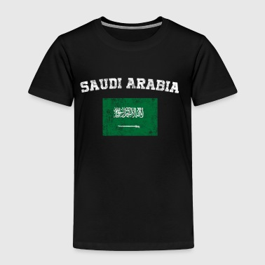 Saudi Arabian Flag Shirt - Vintage Saudi Arabia - Toddler Premium T-Shirt