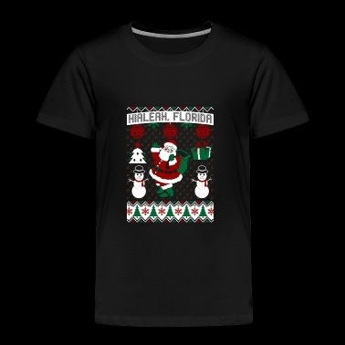 Christmas Ugly Sweater Hialeah Florida - Toddler Premium T-Shirt