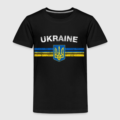 Ukrainian Flag Shirt - Ukrainian Emblem & Ukraine - Toddler Premium T-Shirt