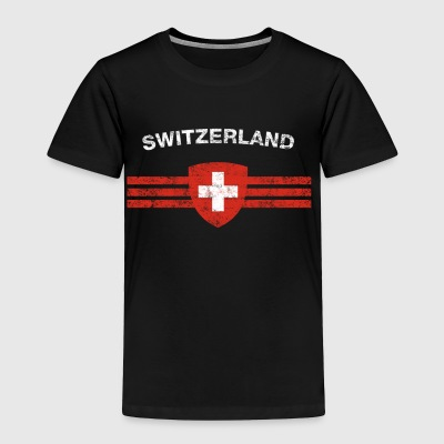 Swiss Flag Shirt - Swiss Emblem & Switzerland Flag - Toddler Premium T-Shirt