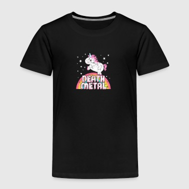 Ironic Death Metal Music Festival Party Unicorn - Toddler Premium T-Shirt