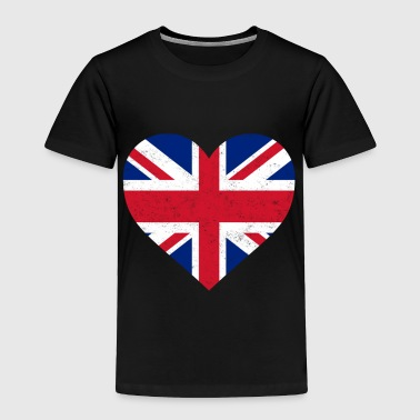 UK Flag Shirt Heart - Brittish Shirt - Toddler Premium T-Shirt