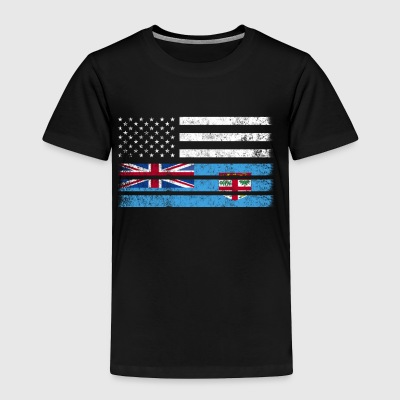 Fijian American Flag - USA Fiji Shirt - Toddler Premium T-Shirt