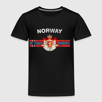 Norwegian Flag Shirt - Norwegian Emblem & Norway F - Toddler Premium T-Shirt
