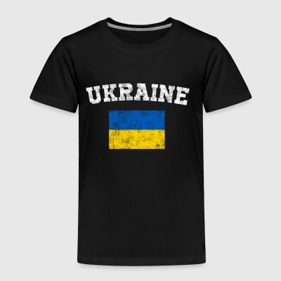 Ukrainian Flag Shirt - Vintage Ukraine T-Shirt - Toddler Premium T-Shirt
