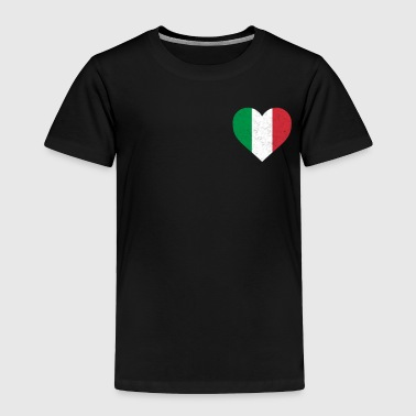 Italy Flag Shirt Heart - Italian Shirt - Toddler Premium T-Shirt