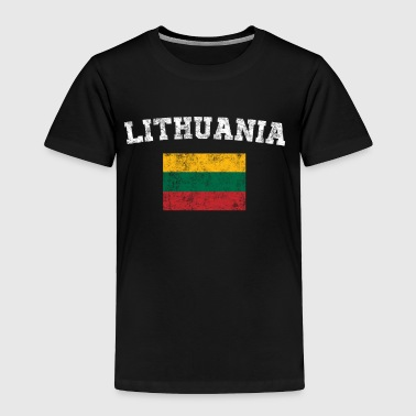 Lithuanian Flag Shirt - Vintage Lithuania T-Shirt - Toddler Premium T-Shirt