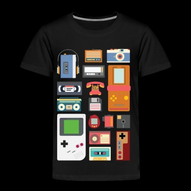 Retro 90's Technology Gadgets Gift shirt - Toddler Premium T-Shirt