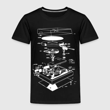 Vinyl Turntable Diagram - Toddler Premium T-Shirt