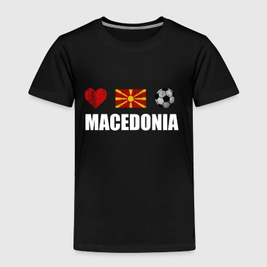 Macedonia Football Shirt - Macedonia Soccer Jersey - Toddler Premium T-Shirt