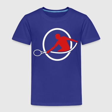 tennis man hitting swing hit - Toddler Premium T-Shirt