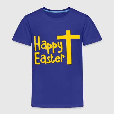 Happy EASTER with a Christian cross - Toddler Premium T-Shirt