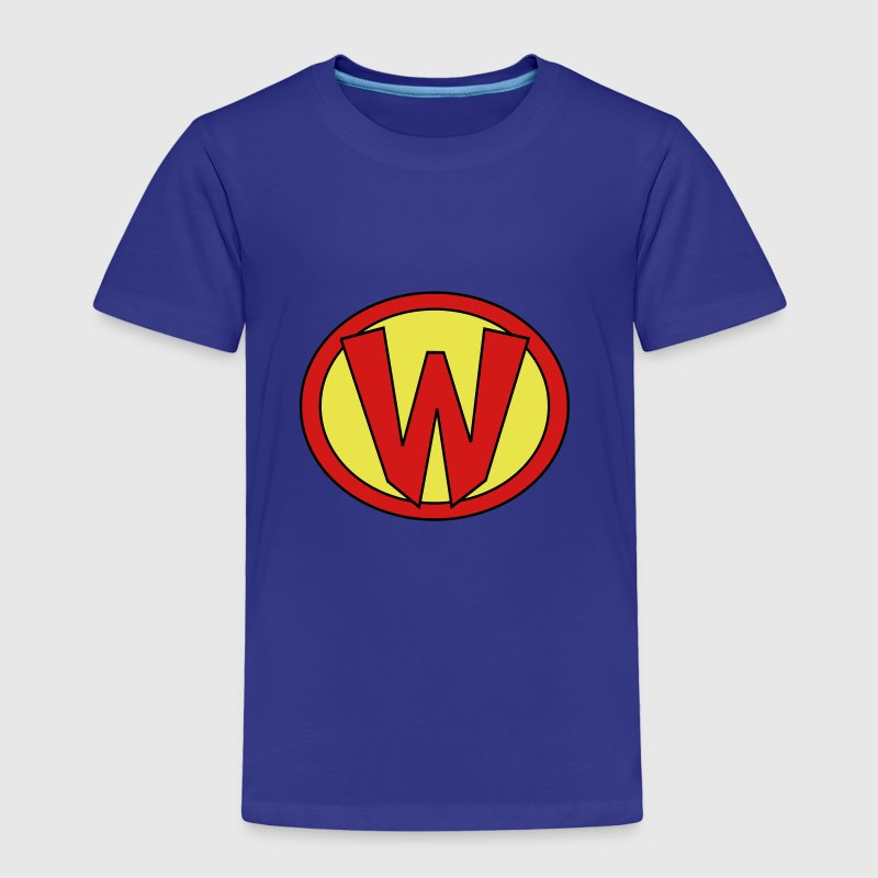 Super, Hero, Heroine, Initials, Super W - Toddler Premium T-Shirt