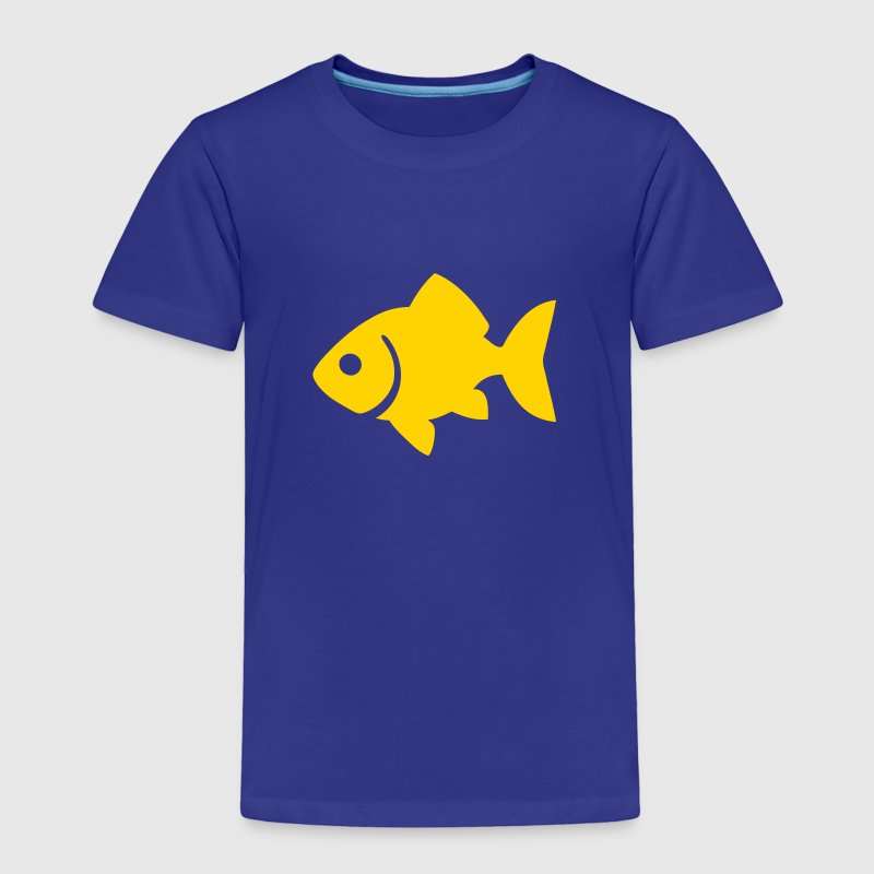 Goldfish Silhouette - Toddler Premium T-Shirt