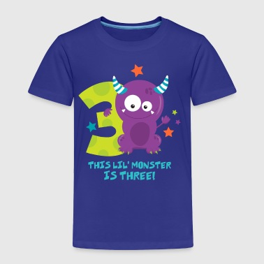 Monster 3rd Birthday - Toddler Premium T-Shirt