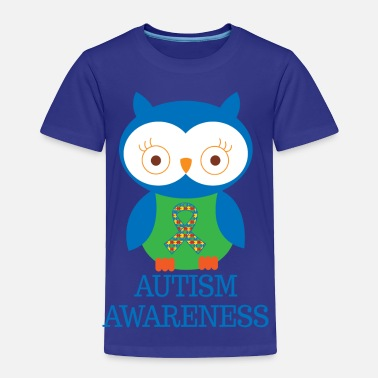 Autism Ribbon Autism Awareness Owl - Toddler Premium T-Shirt