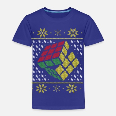 Cube Rubik's Cube Ugly Christmas - Toddler Premium T-Shirt