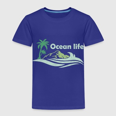 Oceanlife surf captain boat beach wind - Toddler Premium T-Shirt