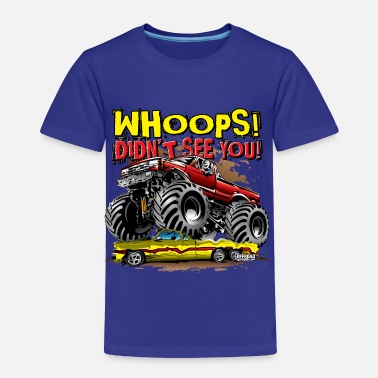 Monster Truck Monster Truck Whoops Red - Toddler Premium T-Shirt