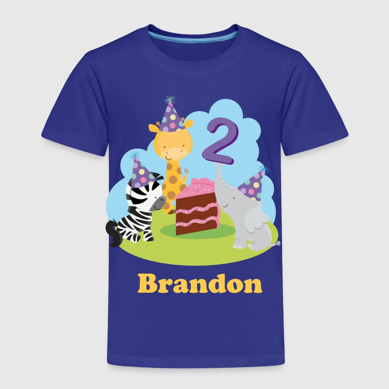 2nd Birthday Zoo Animals - Toddler Premium T-Shirt