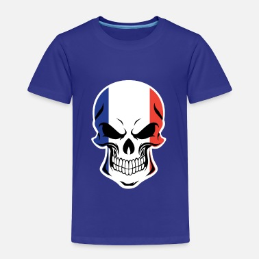 French Flag French Flag Skull - Toddler Premium T-Shirt