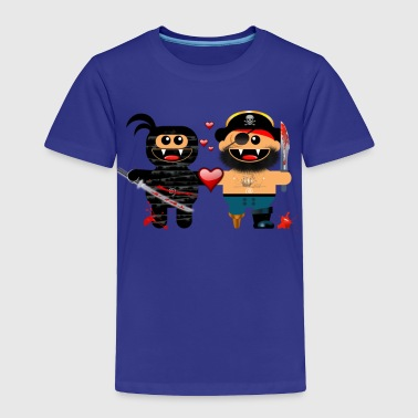 NINJA LOVES PIRATE - Toddler Premium T-Shirt