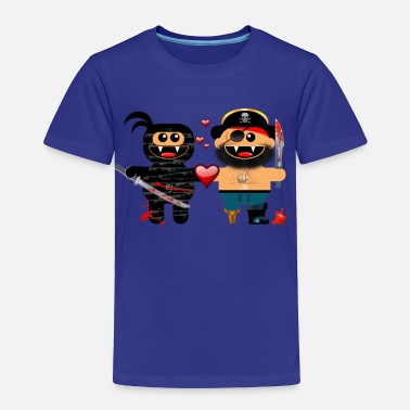 Pirate Ninja NINJA LOVES PIRATE - Toddler Premium T-Shirt