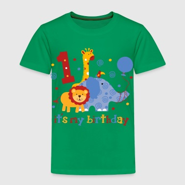 Safari 1st Birthday - Toddler Premium T-Shirt
