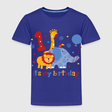 Birthday Safari 1st Birthday - Toddler Premium T-Shirt