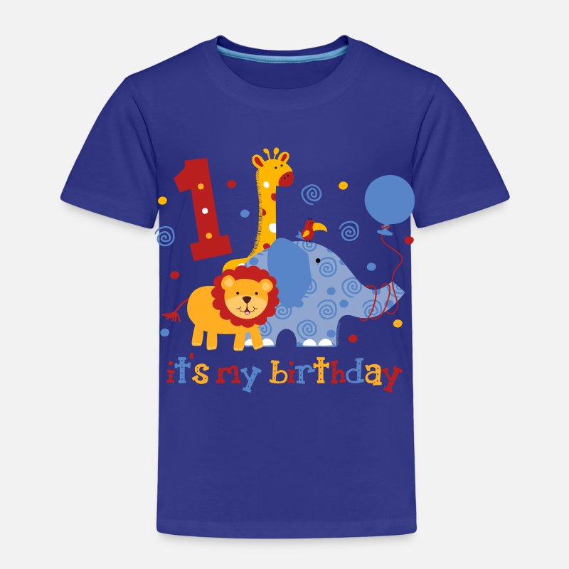 Birthday Baby Clothing - Safari 1st Birthday - Toddler Premium T-Shirt royal blue