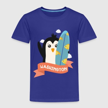 Penguin Surfer from Washington Sxxw4w - Toddler Premium T-Shirt