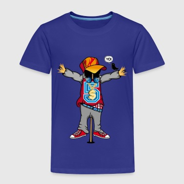 Hip-hop-caps A scarecrow in Hip Hop Style  - Toddler Premium T-Shirt