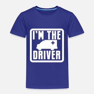 Round Square I'm the AMBULANCE ambo driver in a rounded square - Toddler Premium T-Shirt