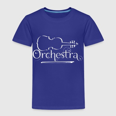 Orchestra White Violin Outline - Toddler Premium T-Shirt