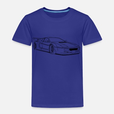 Tuner cool car outlines - Toddler Premium T-Shirt