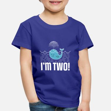 2nd Birthday Whale 2 Year Old - Toddler Premium T-Shirt