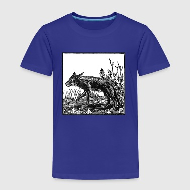 Coyote Linocut - Toddler Premium T-Shirt