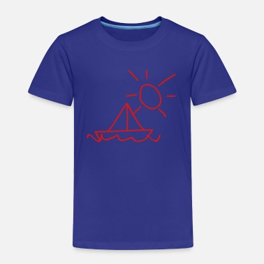 Children Boats Children's drawings: sailing boat - Toddler Premium T-Shirt