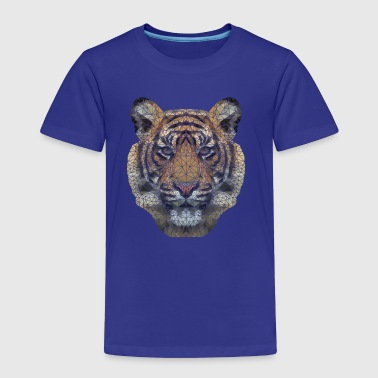 Polygon Tiger Transparent - Toddler Premium T-Shirt