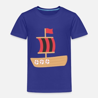 Red Pirate Flag red and black pirate boat - Toddler Premium T-Shirt