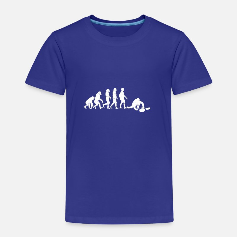 14e22aa97 Curling Baby Clothing - Funny Evolution Curling T-shirt - Toddler Premium T- Shirt