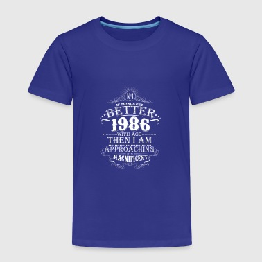 Vintage Born In 1986 30 Years Old Birthday T-Shirt - Toddler Premium T-Shirt