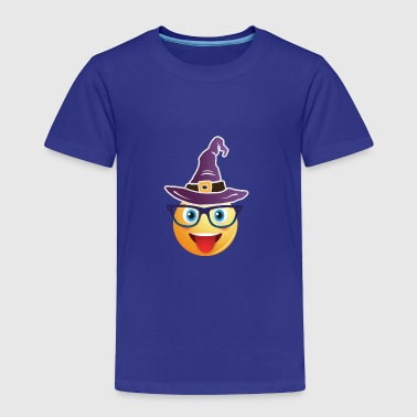 Nerd Emoticon Witch Halloween Design - Toddler Premium T-Shirt