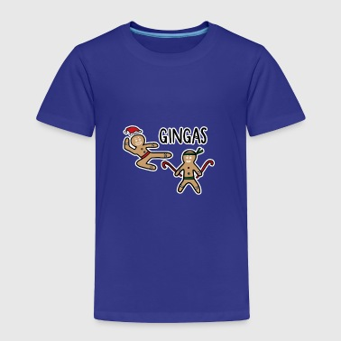 Gingerbread Men Ninjas - Toddler Premium T-Shirt