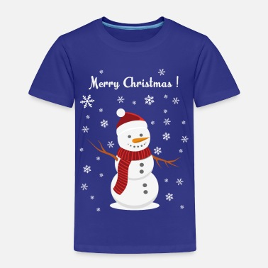 Snowman Merry Christmas - Toddler Premium T-Shirt