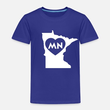 State I Love Minnesota State - Toddler Premium T-Shirt