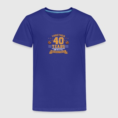 Give Butterfly 40th Wedding Anniversary - Toddler Premium T-Shirt