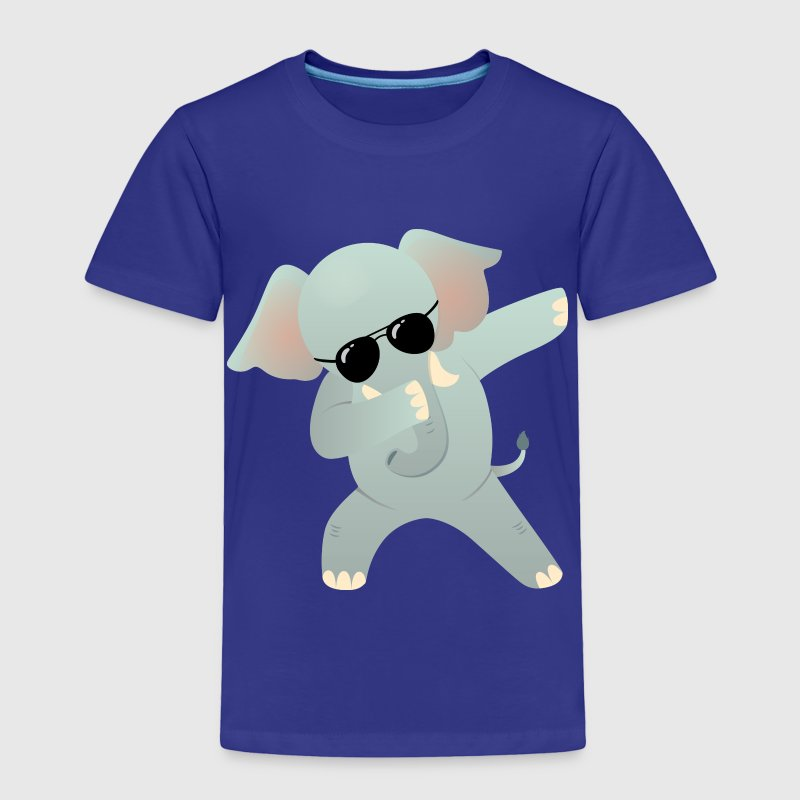 Dabbing Elephant With Sunglasses - Gift Design - Toddler Premium T-Shirt