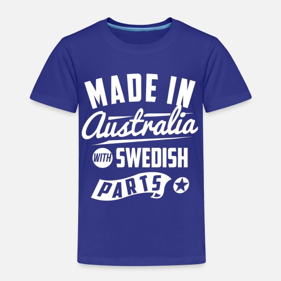 Swedish Baby Clothing - Australian Swedish - Toddler Premium T-Shirt royal blue
